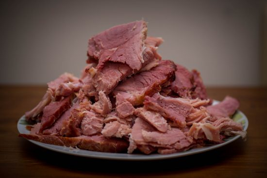 A Big Plateful of Smoked Corned Beef