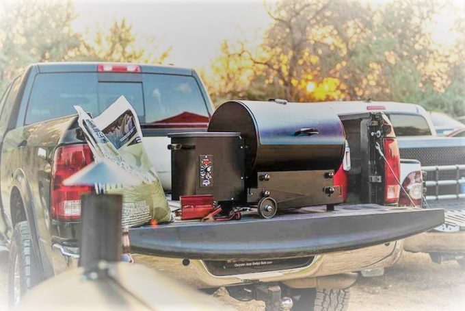 Traeger Tailgater 20 on a Pickup