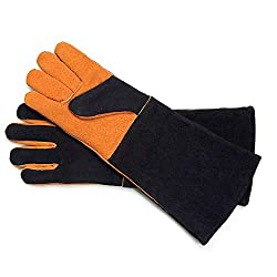Steven Raichlen Best of Barbecue Extra Long Suede Grill Gloves