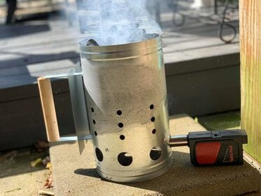 charcoal chimney starter for smoked wings