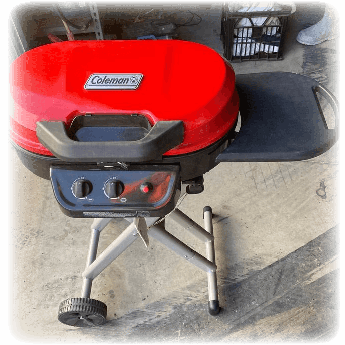 coleman roadtrip grill xle in the shed
