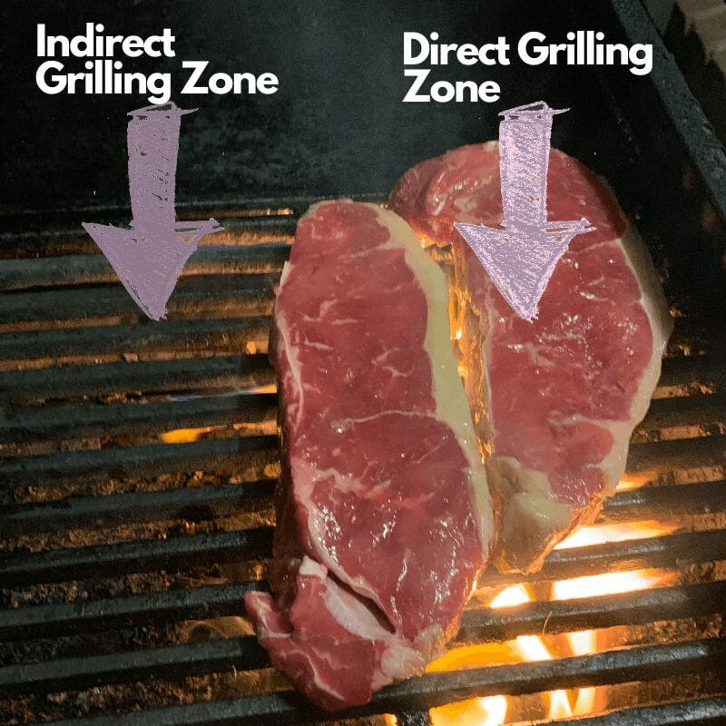 how to set up direct and indirect grilling