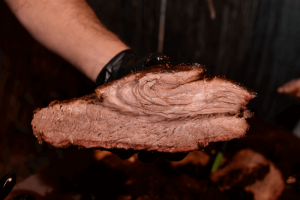 smoked brisket I did over 4th july weekend in my electric smoker