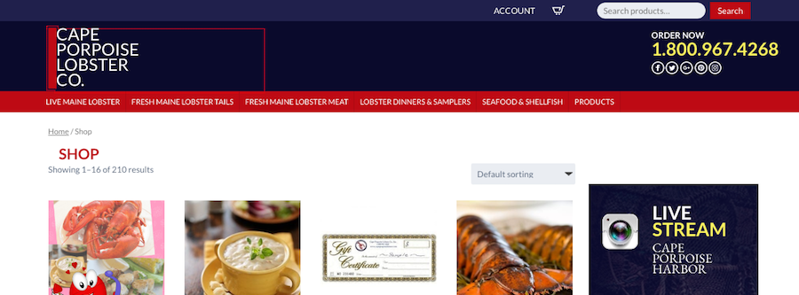 Cape Porpoise Lobster Co. Homepage
