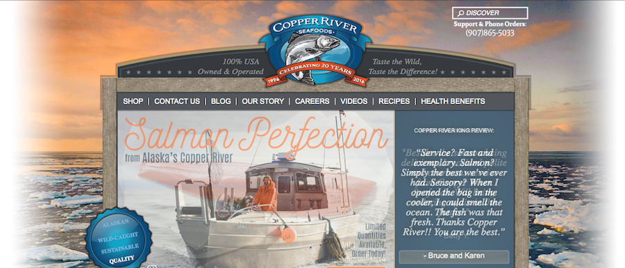 Copper River Seafoods Homepage