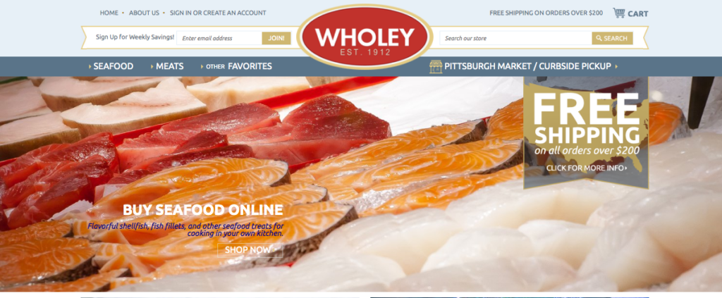 Robert Wholey & Co Homepage