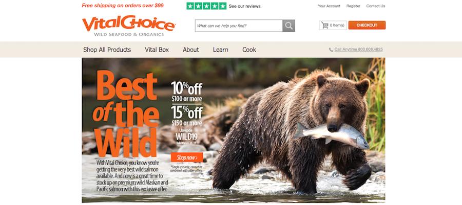 Vital Choice Homepage
