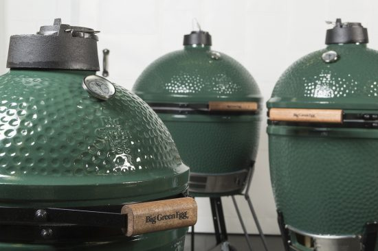 3 Big Green Egg Charcoal Smoker Units