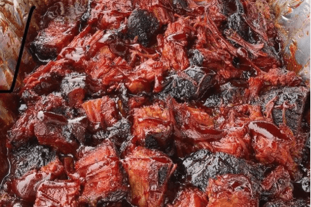 tray full of burnt ends