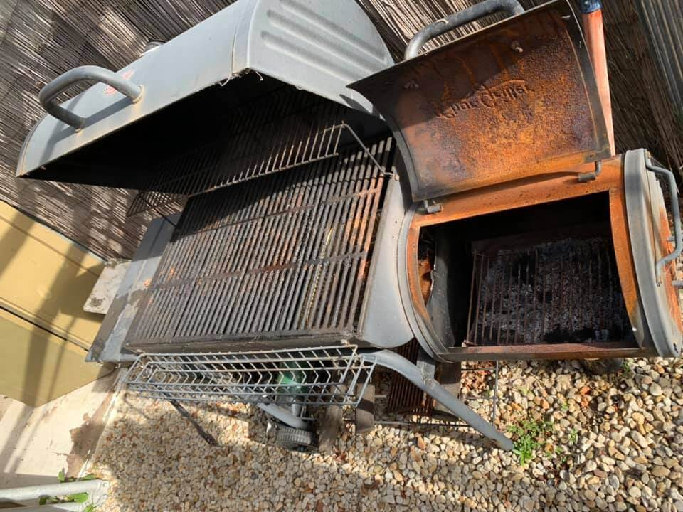 how to use an offset smoker my char griller in the backard