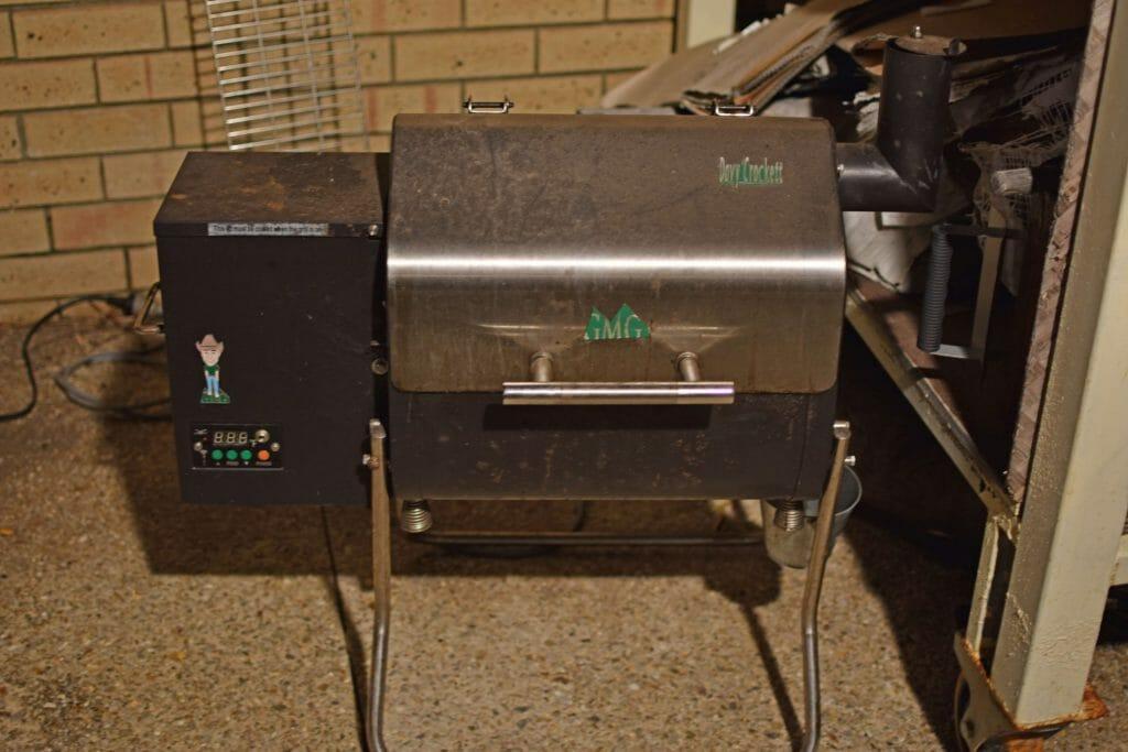 firing up my GMG davy crockett grill for pork butt