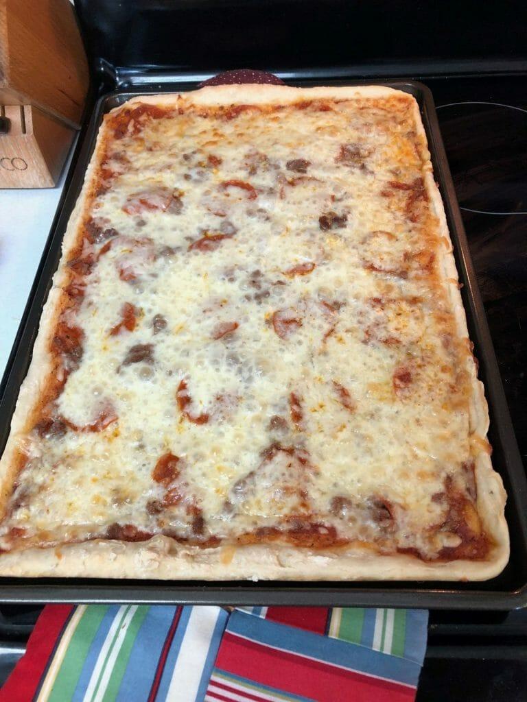 mi pizza ahumada enfriándose