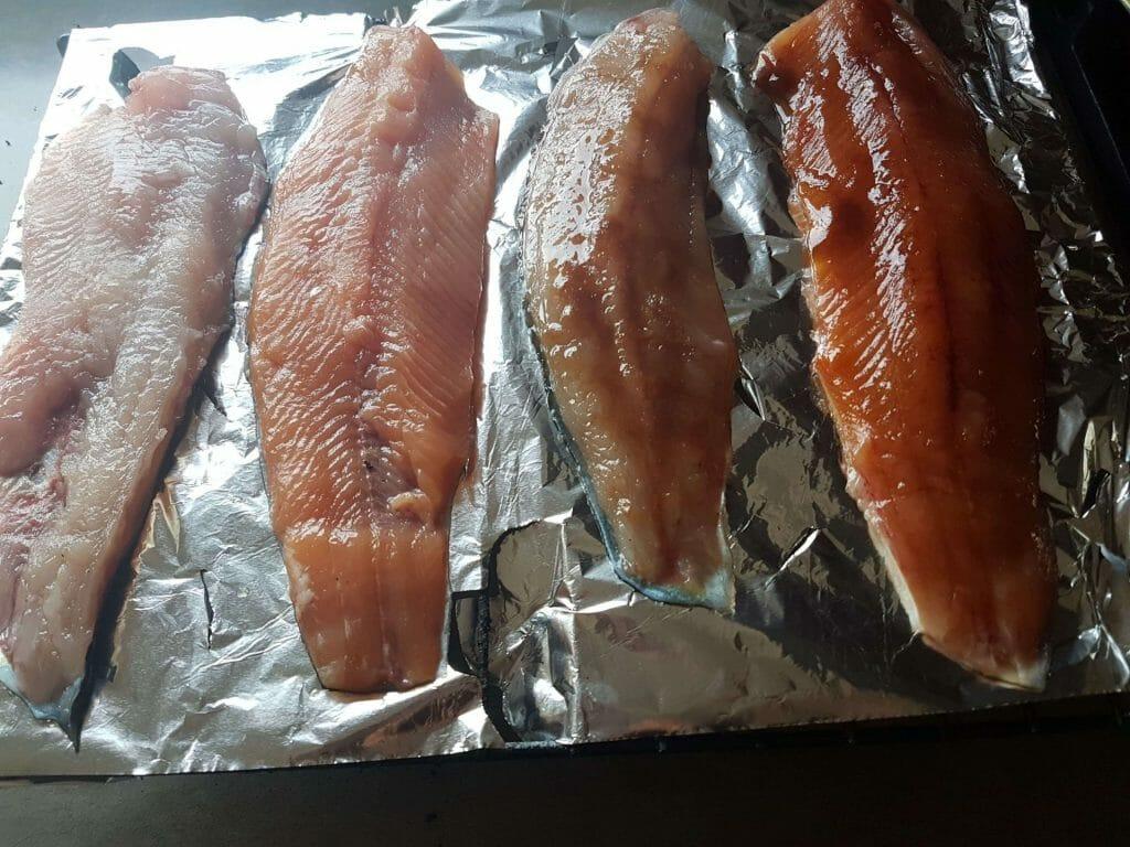 smoking tilapia on the grill