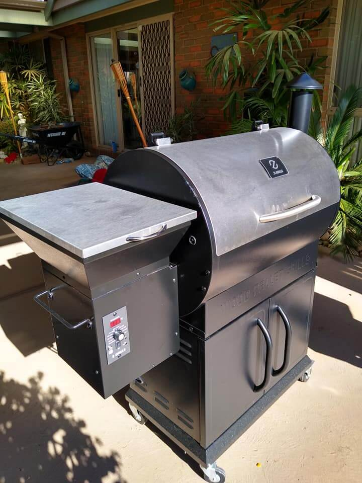 zgrill ready to fire up for 4th july cookout