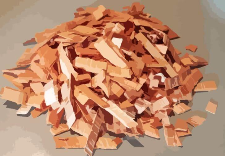 a pile of alder wood