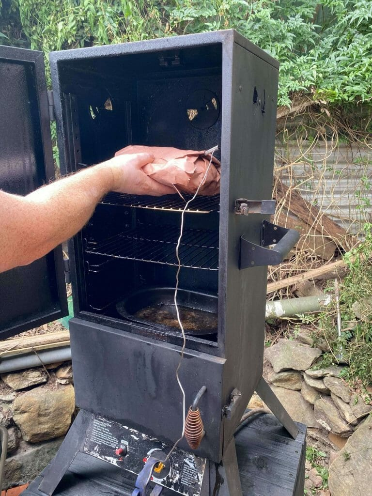 pork shoulder stall wrapped it and put it back in my smoker