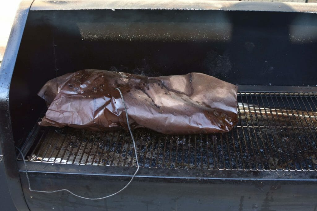 got the probe in my brisket while wrapped