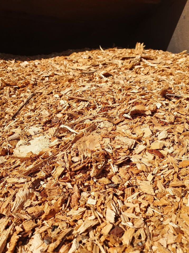 our pile of wood chips we used for smoking