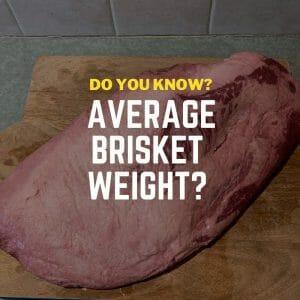 Average Brisket Weight of packer cut