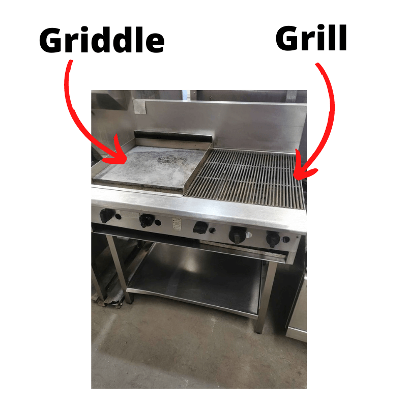 difference between grill and griddle